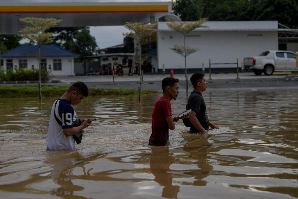 此次水灾,彭亨是灾民最多的州属。-马新社-