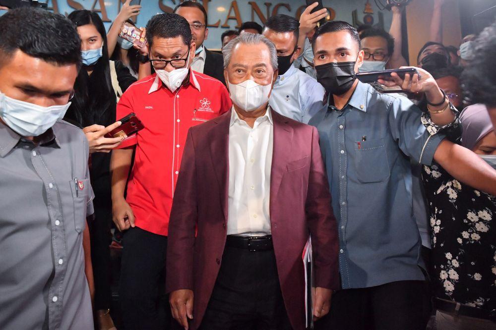 Bersatu president Tan Sri Muhyiddin Yassin leaves Parti Pribumi Bersatu Malaysia headquarters after chairing the Supreme Council meeting in Kuala Lumpur January 6, 2021. — Bernama pic