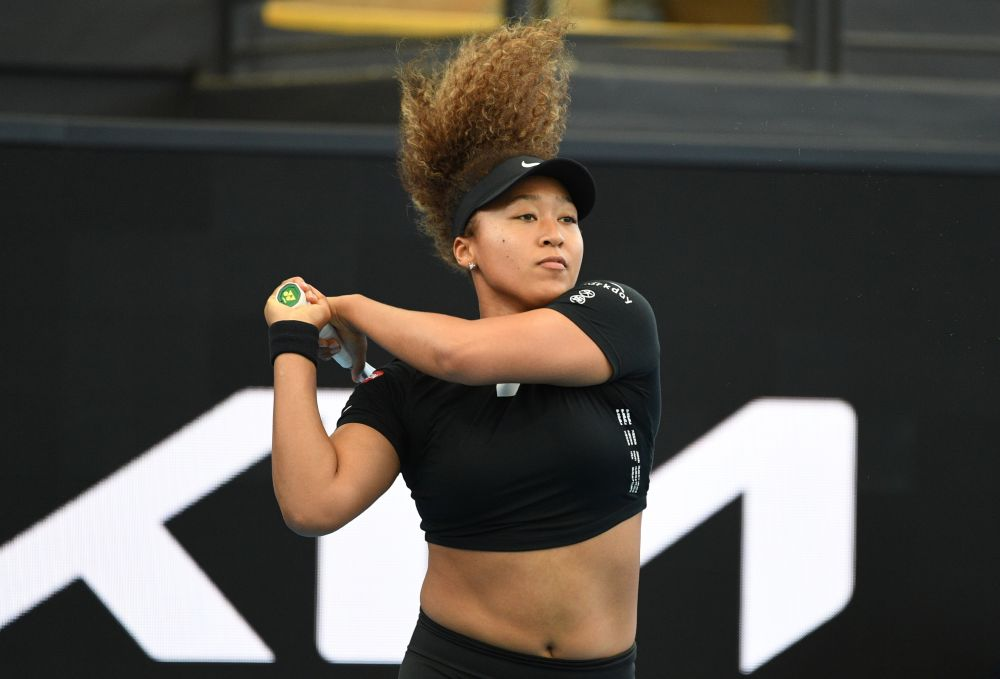 Japan's Naomi Osaka in action during her match against Serena Williams of the US at the Memorial Drive Tennis Club, Adelaide January 29, 2021. — Reuters pic