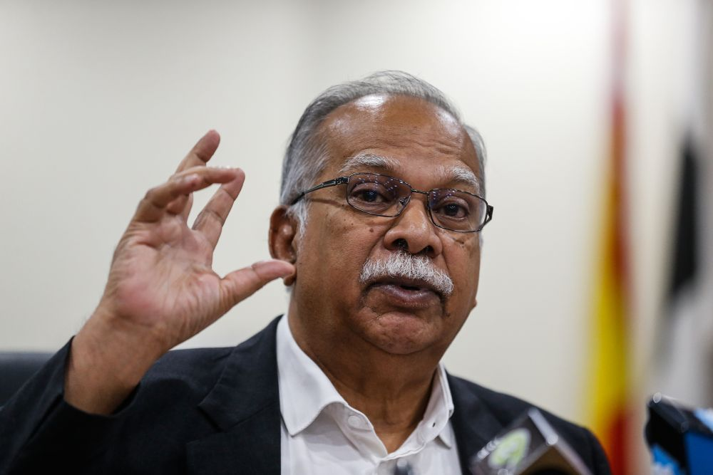 Penang Deputy Chief Minister II P. Ramasamy speaks to the press during a press conference at Komtar, George Town January 8, 2021. — Picture by Sayuti Zainudin