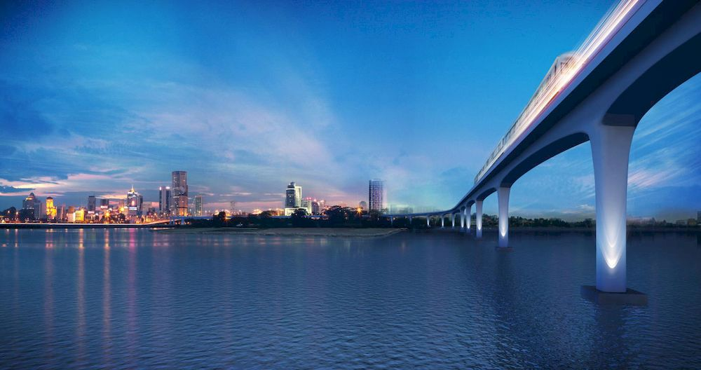 An artist's impression of the RTS Link viaduct. — LTA image via TODAY