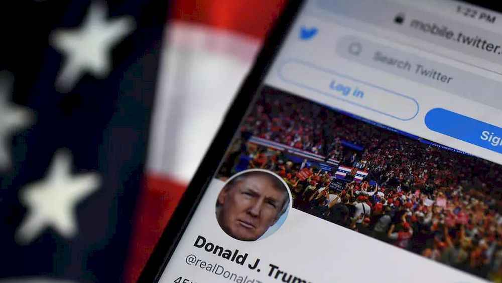 Trump's access to social media platforms that he used as a megaphone during his presidency has been largely cut off since the storming of the US Capitol. — AFP pic
