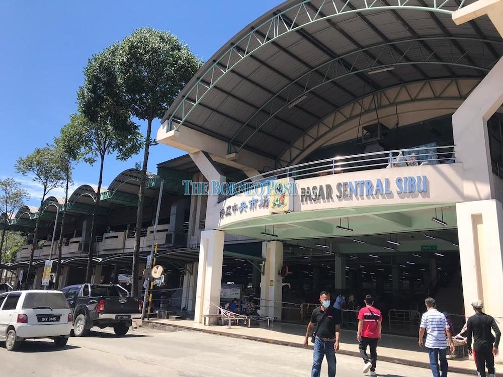 A file photo of the popular Sibu Central Market. — Borneo Post Online pic