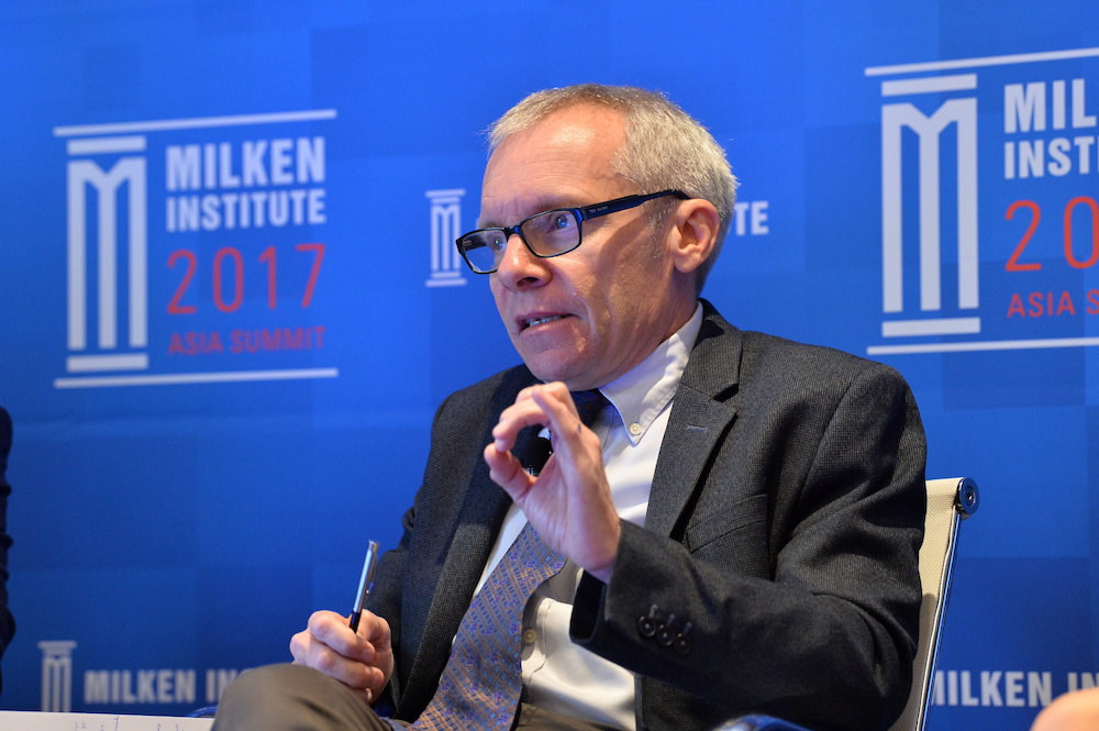 Sean Turnell, the economic adviser to Myanmar's elected leader Aung San Suu Kyi, is seen at the Milken Institute 2017 Asia Summit in Singapore, in this September 30, 2017 handout photograph. — Milken Institute handout via Reuters