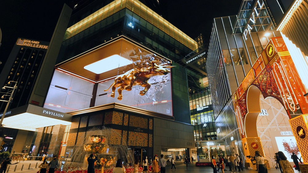 The realistic 3D animation was enough to stop shoppers in their tracks. — Picture courtesy of Pavilion KL