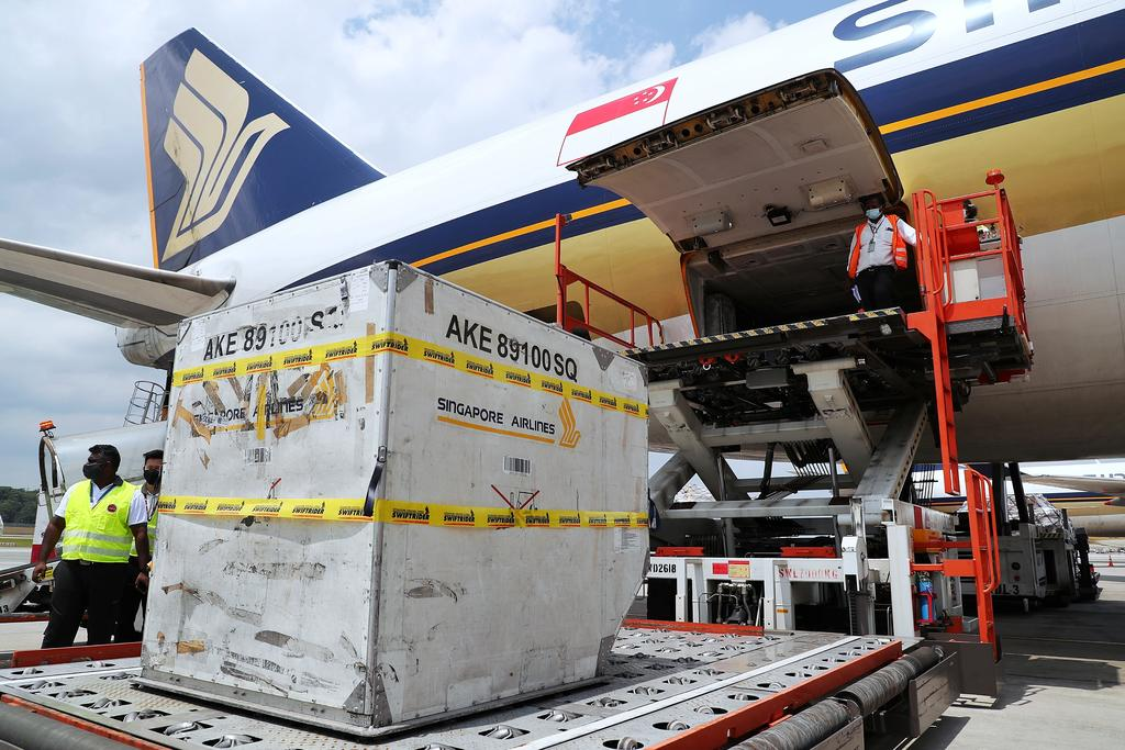 SIA said that the Moderna shipment was carried on board flight SQ7137 from Brussels in Belgium. — Singapore Ministry of Communications and Information pic