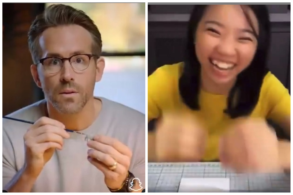 Hollywood star Ryan Reynolds learns how to make a tiny hairdryer with the help of Malaysian miniaturist Lim Pui Wan.  —  Picture via Instagrampicoworm