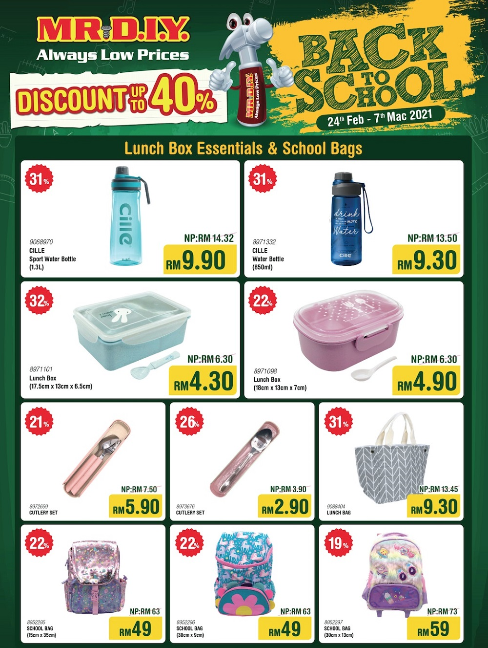 Don't miss out on these massive savings at MR.DIY (flyer applicable for West Malaysia only). — Picture courtesy of MR.DIY