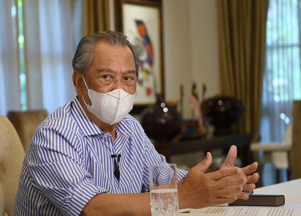 Prime Minister Tan Sri Muhyiddin Yassin has insisted the Emergency declaration was a necessary one.— Bernama pic
