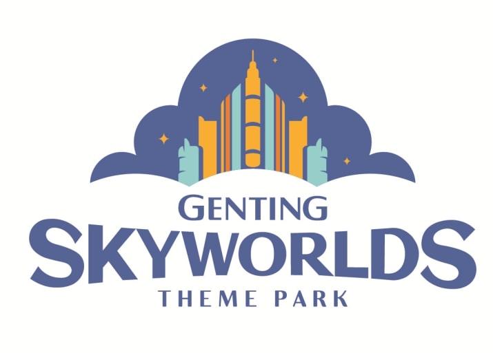 """标志中的云彩宛如王冠上的宝石,象征该主题乐园所处的环境,为游客带来无与伦比的""""高级""""体验。-云顶世界提供-"""