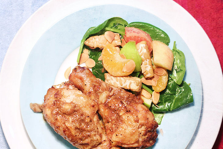 Tangy and refreshing: Abundance Chicken and Auspicious Salad. – Pictures by CK Lim