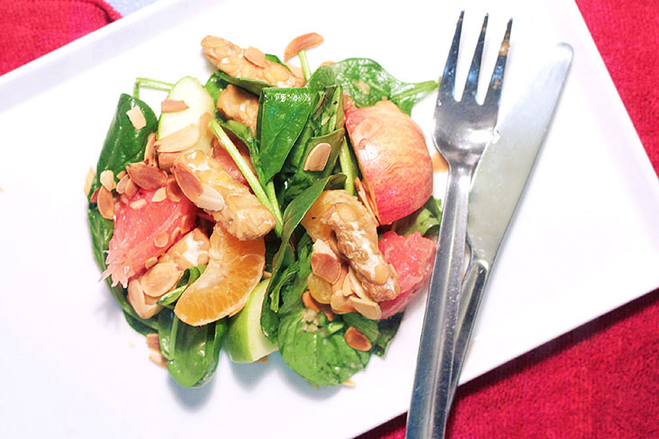 For a vegan option, serve the salad without the roasted drumsticks.