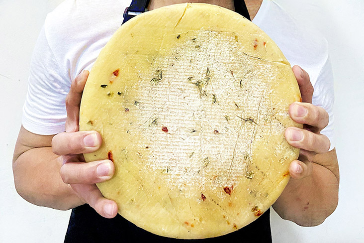 D'Artisan Cheese based their Spicy Cov-philly on a Welsh Caerphilly that has been infused with Korean peppers, jalapeños and local 'cili padi.' — Pictures courtesy of D'Artisan Cheese