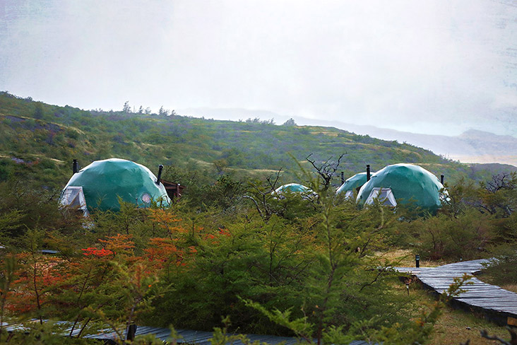 The geodesic domes of EcoCamp Patagonia. – Pictures by CK Lim
