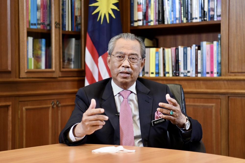 Prime Minister Tan Sri Muhyiddin Yassin says Putrajaya will spend up to RM56 billion on infrastructure for faster and wider internet connectivity under a 10-year plan aimed at developing the country's digital economy. — Bernama pic