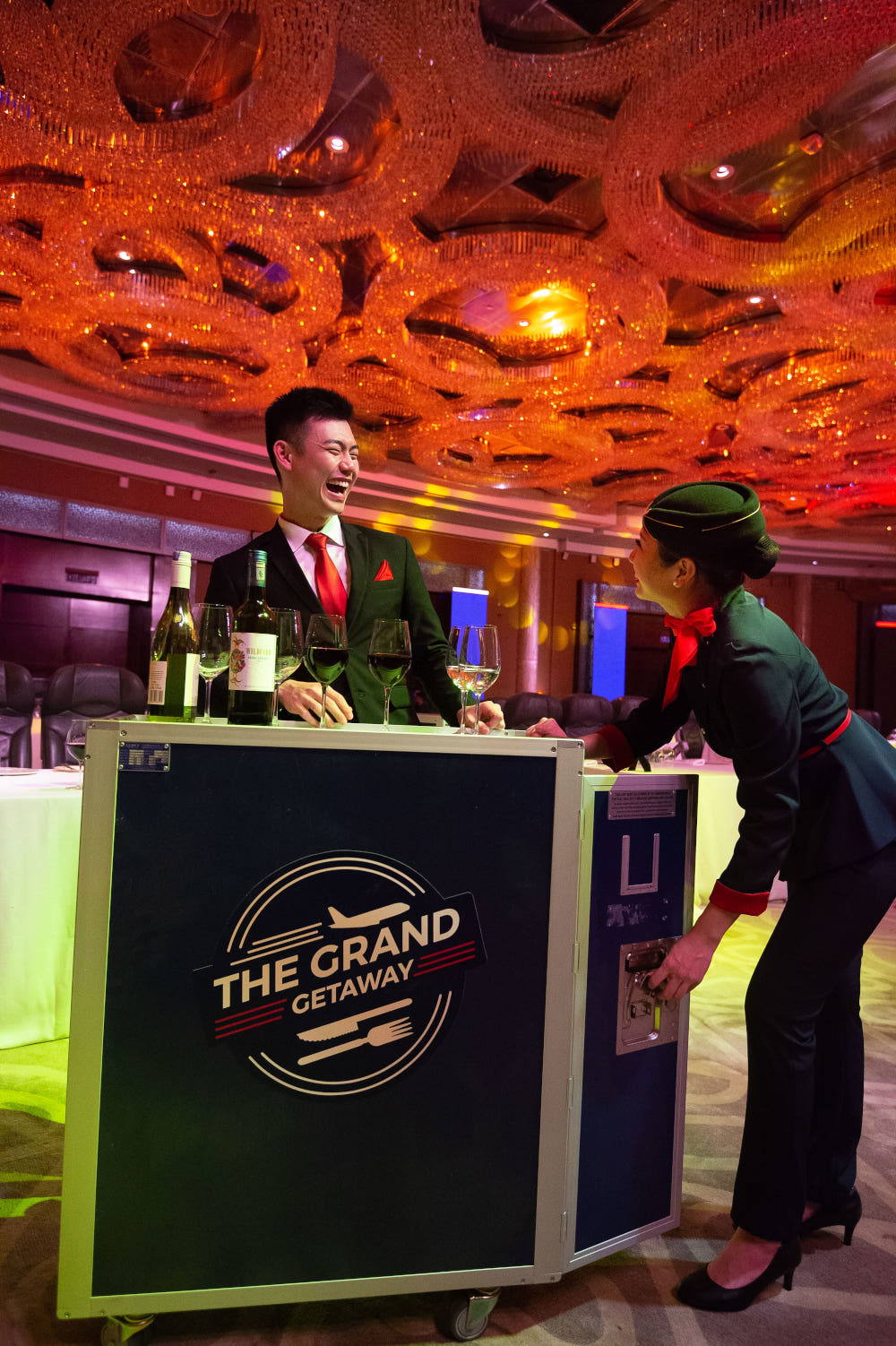 The Grand Getaway flight crews to serve guests. — Picture courtesy of MD Events Asia
