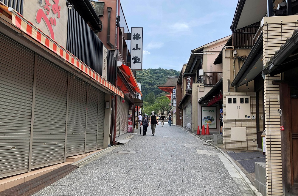 An empty street near the usually crowded Kiyomizu temple in Kyoto, a popular tourist attraction, is pictured amid the coronavirus outbreak in Japan July 21, 2020. ― Reuters file pic