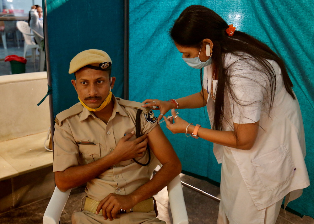 Daily inoculations have averaged 2.5 million since hitting a peak of 4.5 million on April 5. ― Reuters pic