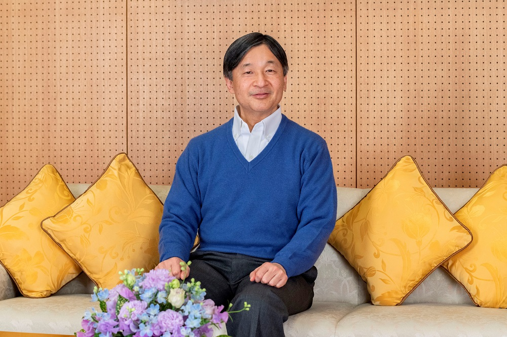 Japan's Emperor Naruhito poses for a photograph at Akasaka Palace in Tokyo, Japan, ahead of the Emperor's 61st birthday on February 23, 2021, in this handout photo taken on February 2, 2021 and released by Imperial Household Agency of Japan. ― Handout via Reuters