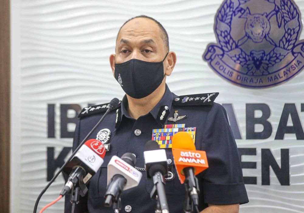 Perak police chief Datuk Mior Faridalathrash Wahid says any highway user whose toll transactions found to be unreasonably high will be fined and ordered to turn back for violating interstate travel restrictions. — Picture by Farhan Najib