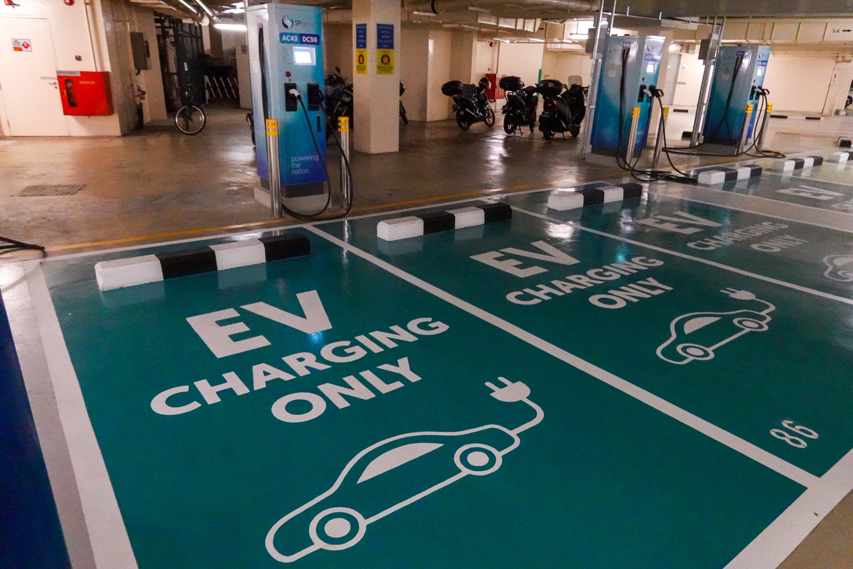 The vehicle-to-grid solution could find its way to Singapore sooner than later as SP Group, which aims to build the largest public EV charging network here, is already piloting it. — Photo by Raj Nadarajan for TODAY