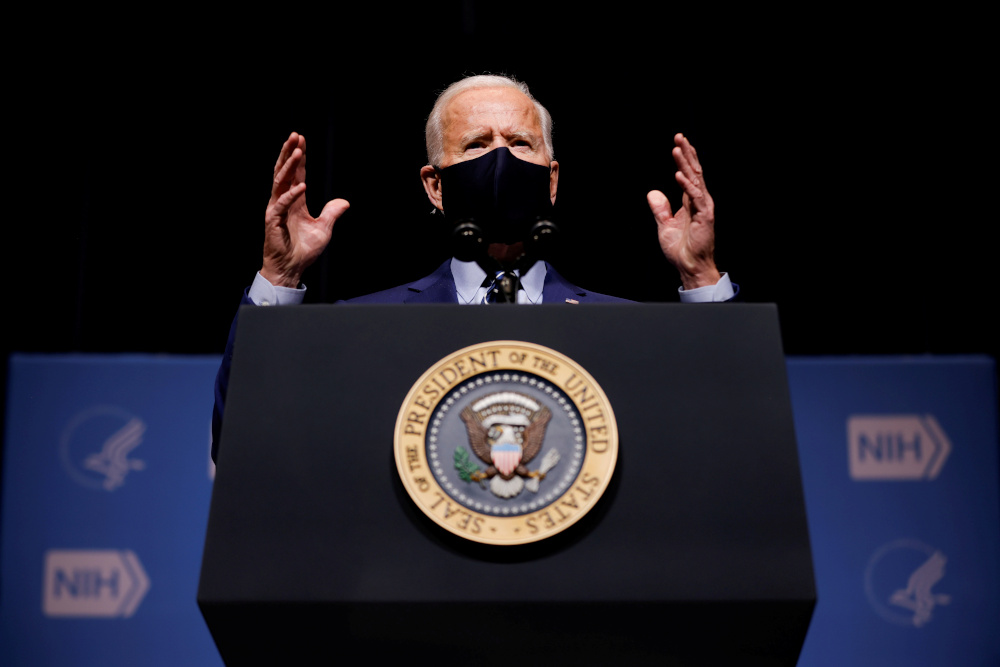 Biden and his fellow Democrats want to pass the plan quickly to speed a new round of direct payments to US households as well as extend federal unemployment benefits and assist state and local governments. — Reuters pic