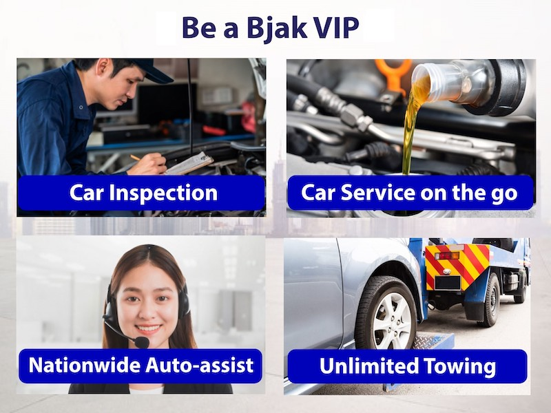 Bjak's VIP package offers unlimited towing services and 24-hour roadside assistance to its customers. — Picture courtesy of Bjak