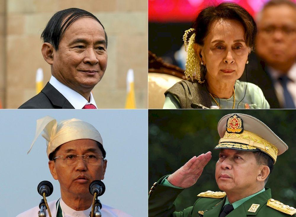 Image result for myanmar president MILITARY