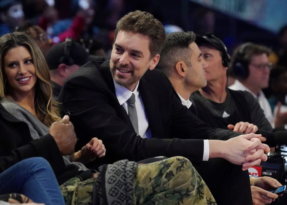 Pau Gasol in attendance during the NBA Rising Stars basketball game at United Centre, Chicago February 14. 2021. — Reuters pic