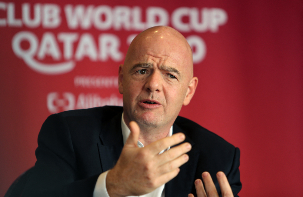 Fifa president Gianni Infantino completed a two-day visit to Israel yesterday by meeting Israeli Prime Minister Naftali Bennett and President Isaac Herzog. — AFP pic
