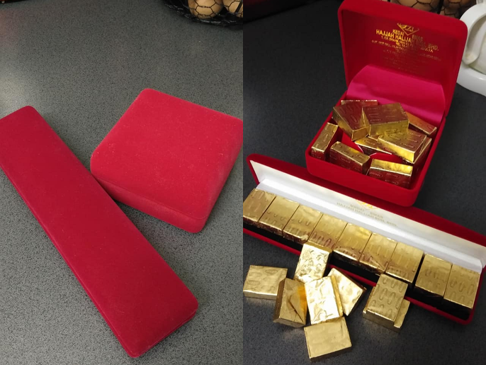 Facebook user Junairah Ab Rahman was left feeling bamboozled after receiving what she thought was gold bars turned out to be chicken stock cubes instead. ― Picture via Facebook/Junairah Ab Rahman