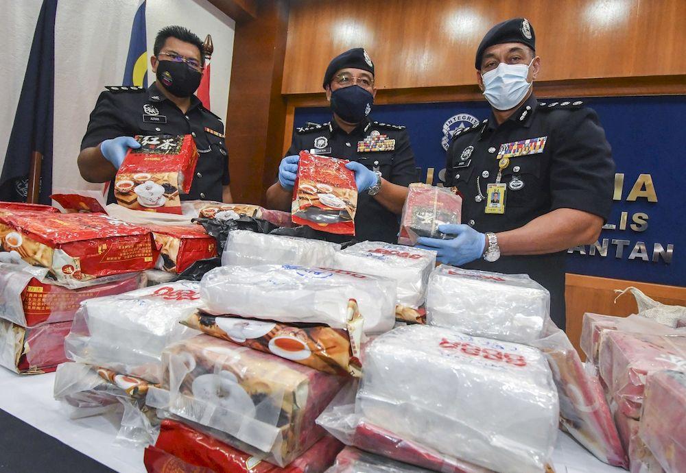 Another big drug bust in Kelantan, 101kg of syabu worth RM3.6 million seized