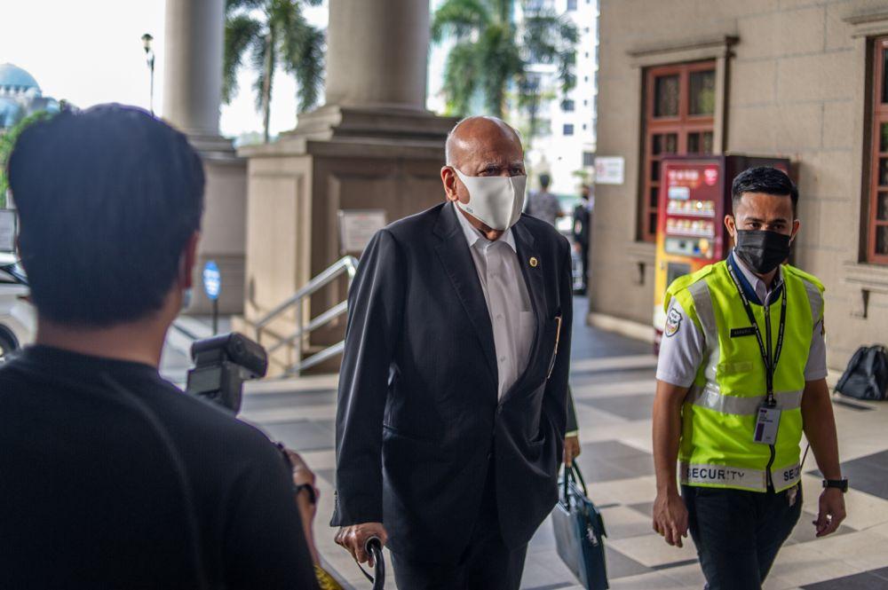 Datuk Seri Gopal Sri Ram arrives at the Kuala Lumpur High Court  February 10, 2021. — Picture by Shafwan Zaidon