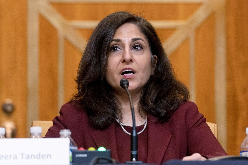 Neera Tanden, President Joe Biden's nominee for Director of the Office of Management and Budget (OMB), testifies during a Senate Committee on the Budget hearing on Capitol Hill in Washington, February 10, 2021. ― Reuters file pic
