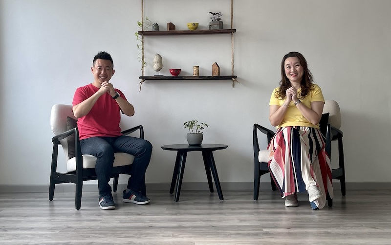 Oxwhite founder CK Chang and feng shui consultant Jane Hor discuss the luck of the animal zodiac signs in a Chinese New Year video. — Picture courtesy of Oxwhite