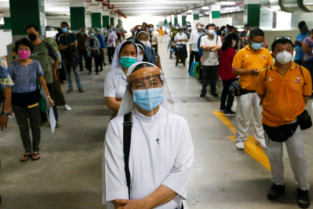 The Southeast Asian nation also reported 54,000 new coronavirus infections. — Reuters pic