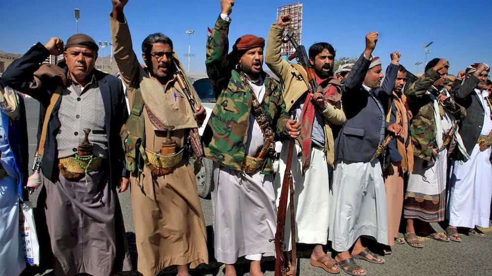 Yemeni tribesmen attend a rally denouncing the US designation of the Huthi rebels as a terrorist group in the Huthi-held capital Sanaa on February 4, 2021. — AFP file pic