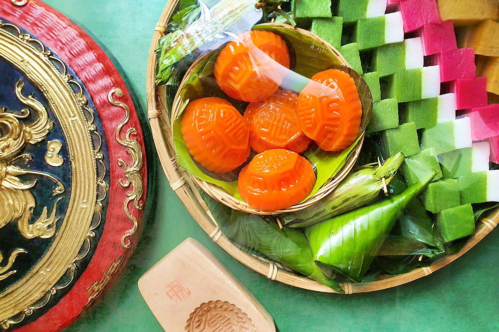 Colourful Malaysian 'kuih' platter by Kuih.Co. — Pictures courtesy of Kuih.Co