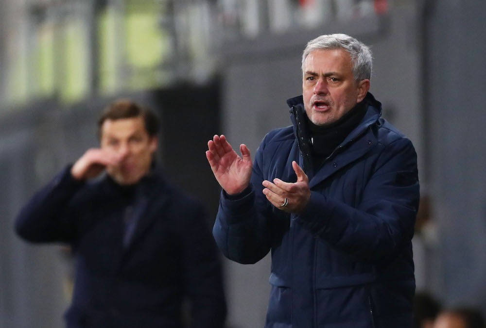 Mourinho says Tottenham Hotspur want to make an impact on the fight against online racist abuse after defender Davinson Sanchez was targeted last week. — Pool via Reuters/Clive Rose