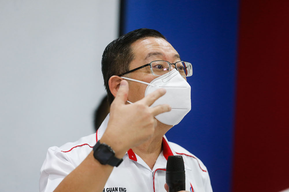 Lim Guan Eng criticised Datuk Seri Tuan Ibrahim Tuan Man for claiming that Malaysia was not included in the Leaders' Summit on Climate because the country is not climate-vulnerable nor a big contributor to greenhouse gases (GHG), calling this unacceptable and dishonest. — Picture by Sayuti Zainudin