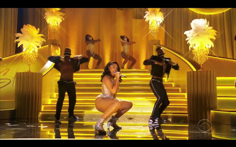 Megan Thee Stallion performs in this screen grab taken from video of the 63rd Annual Grammy Awards in Los Angeles March 15, 2021. — CBS handout via Reuters