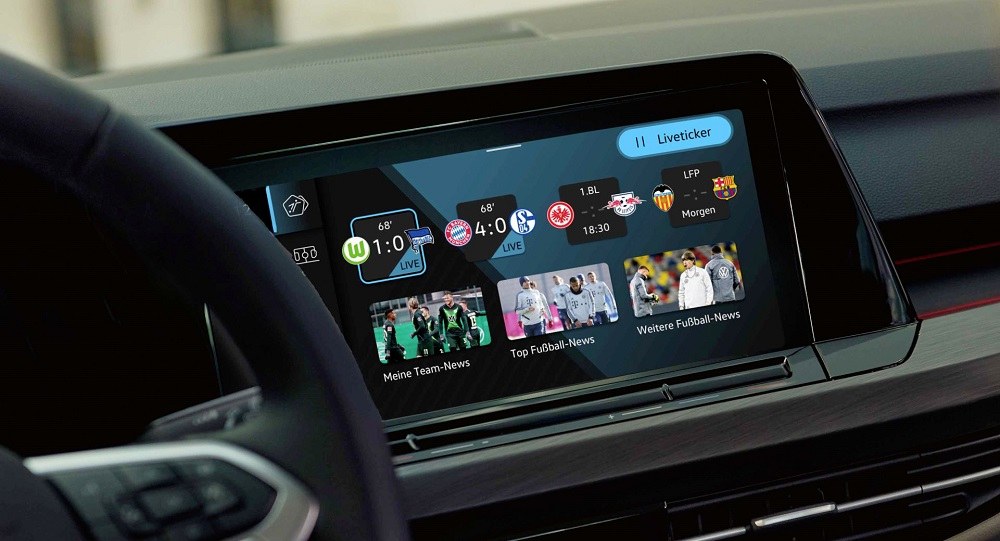 Volkswagen presents the 'We Score' app, keeping football fans on the ball while driving. — Picture courtesy of Volkswagen