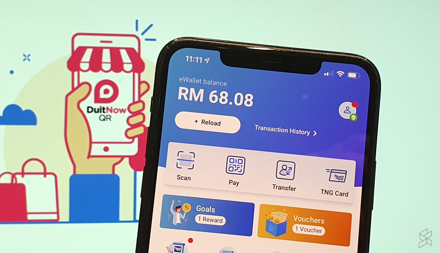 Touch 'n Go eWallet users are now able to pay at more merchant touch points that display the pink DuitNow QR code that's issued by other bank and eWallet providers. — SoyaCincau pic