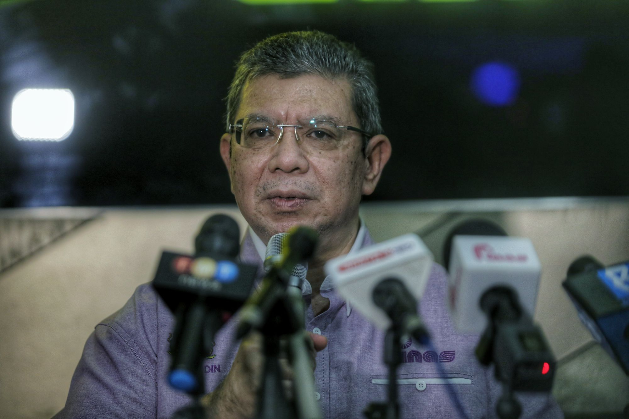Communications and Multimedia Minister Datuk Saifuddin Abdullah said both the Malaysian Communications and Multimedia Commission (MCMC) and CyberSecurity Malaysia have yet to receive any report on the matter. — Picture by Ahmad Zamzahuri