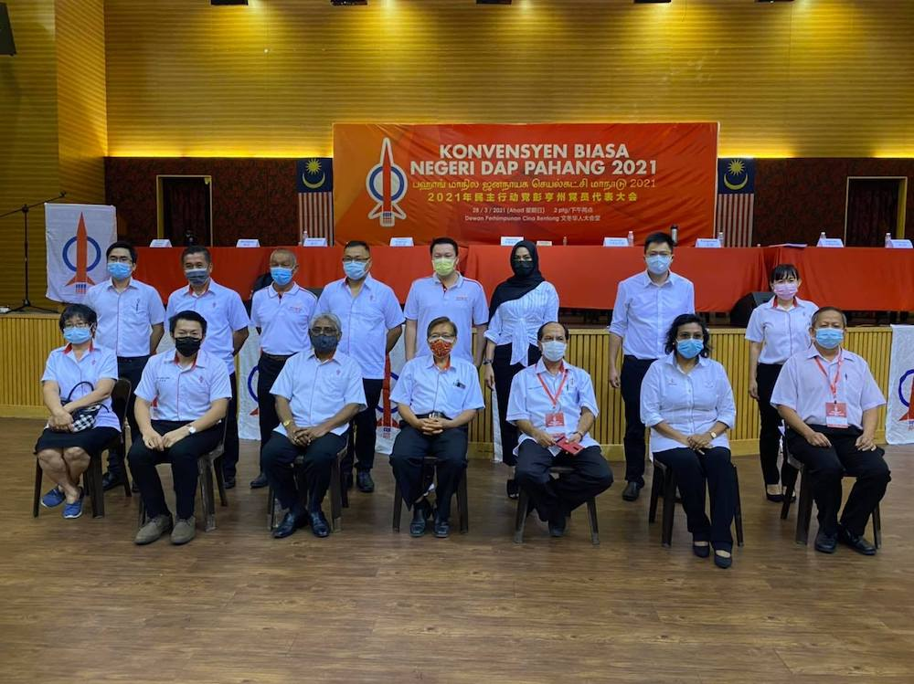 The committee election took place at the Pahang DAP Ordinary State Convention her— Picture courtesy of Facebook/Young Syefura Othman