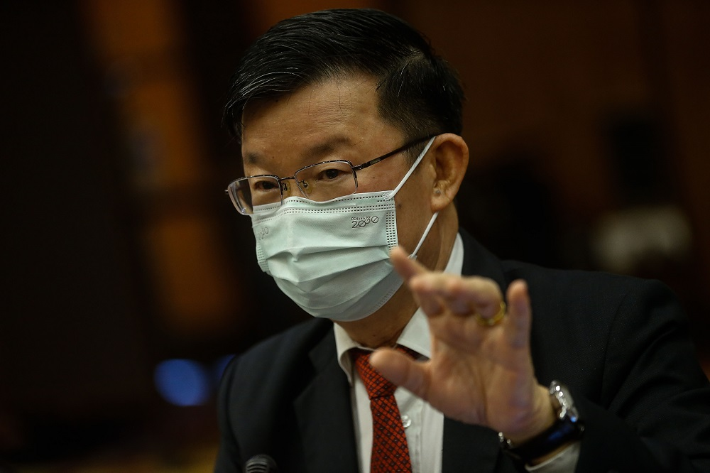 Penang Chief Minister Chow Kon Yeow during a press conference at the St Giles Wembley Hotel in George Town March 29, 2021. — Picture by Sayuti Zainudin