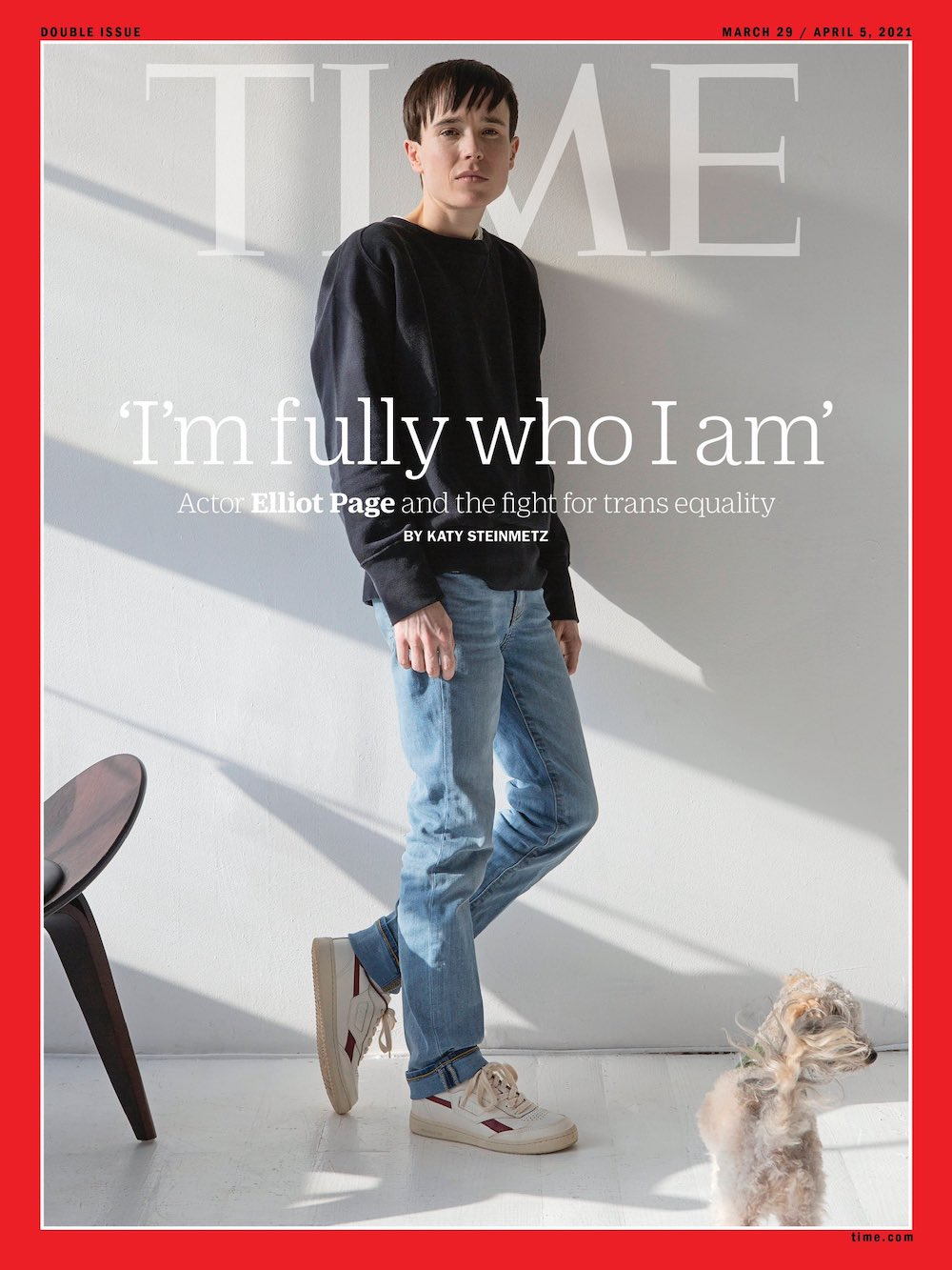 Elliot Page shared the image from his Time cover on his Twitter account.— Picture via Twitter/Elliot Page