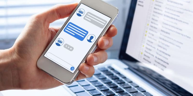 Chatbots are becoming increasingly popular for making online bookings and are gradually gaining ground in the medical sector. — Getty Images via ETX Studio