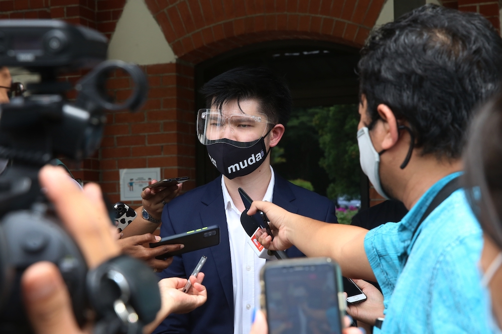 In a statement today, Muda's pro tem vice-president and lawyer Lim Wei Jiet cried foul over the move and labelled it as an assault to the role of the Parliament, and democracy. — Picture by Choo Choy May