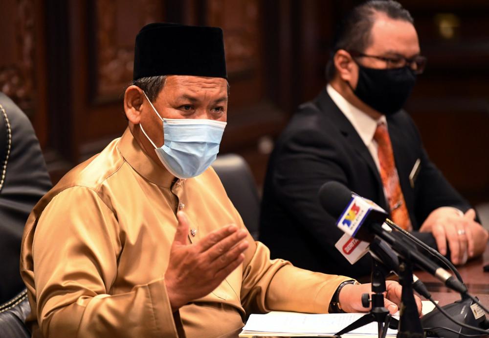 Negri Sembilan Mentri Besar Datuk Seri Aminuddin Harun said the Covid-19 infection only affected two schools. — Bernama pic